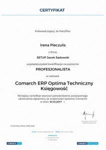 Irena Pieczulis Optima Techniczny-Księgowość