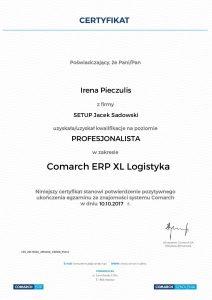 Irena Pieczulis XL Logistyka