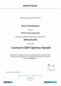 KT-COMARCH ERP Optima Handel - poziom Specjalista