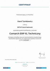 KT-COMARCH ERP XL Techniczny