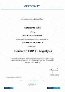 Katarzyna Wilk XL Logistyka Profesjonalista